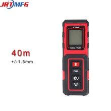 JRTMFG Portable Measuring Device 40m Laser Rangefinder Battery Distance Meter Test Tool High Precision X-40 mileseey s9 1 8 lcd precision laser rangefinder distance measuring meter black blue 2 x aaa