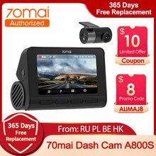 Real nuevo 70mai 4K A800S cámara de salpicadero del coche DVR 2021 DVR inteligente construido en GPS con ADAS UHD imagen SONY IMX415 140FOV 24H Monitor de aparcamiento