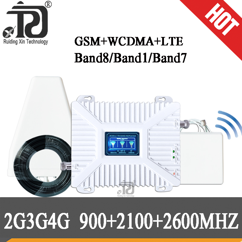 900 2100 2600 Mhz 2g 3g 4g Gsm Signal Repeater 4G Signal Booster LTE WCDMA GSM Mobile Signal Booster Cellular Signal Amplifier
