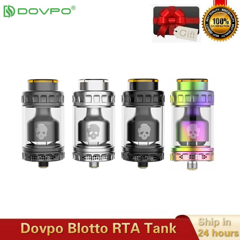 Original Dovpo Blotto RTA Vape Tank With 2/6ml Glass Bubble/ULTEM Bubble Tube Tank 510 Thread 26mm Atomizer Vs Dead Rabbit RTA