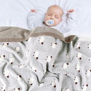 Image 5 - Chăn Thú Bông Dệt Kim Sơ Sinh Đầm Xe Đẩy Chăn Ga Gối Bọc Hoạt Hình Alpaca Infantil Dành Nhận Chăn Trẻ Em Mền
