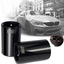 цена на 1pcs Car Styling For BMW E30 E36 E46 E90 E91 E92 E93 F30 320i  M Power LOGO Car Exhaust Pipe Muffler Tip Turbo Sound Whistle Aut