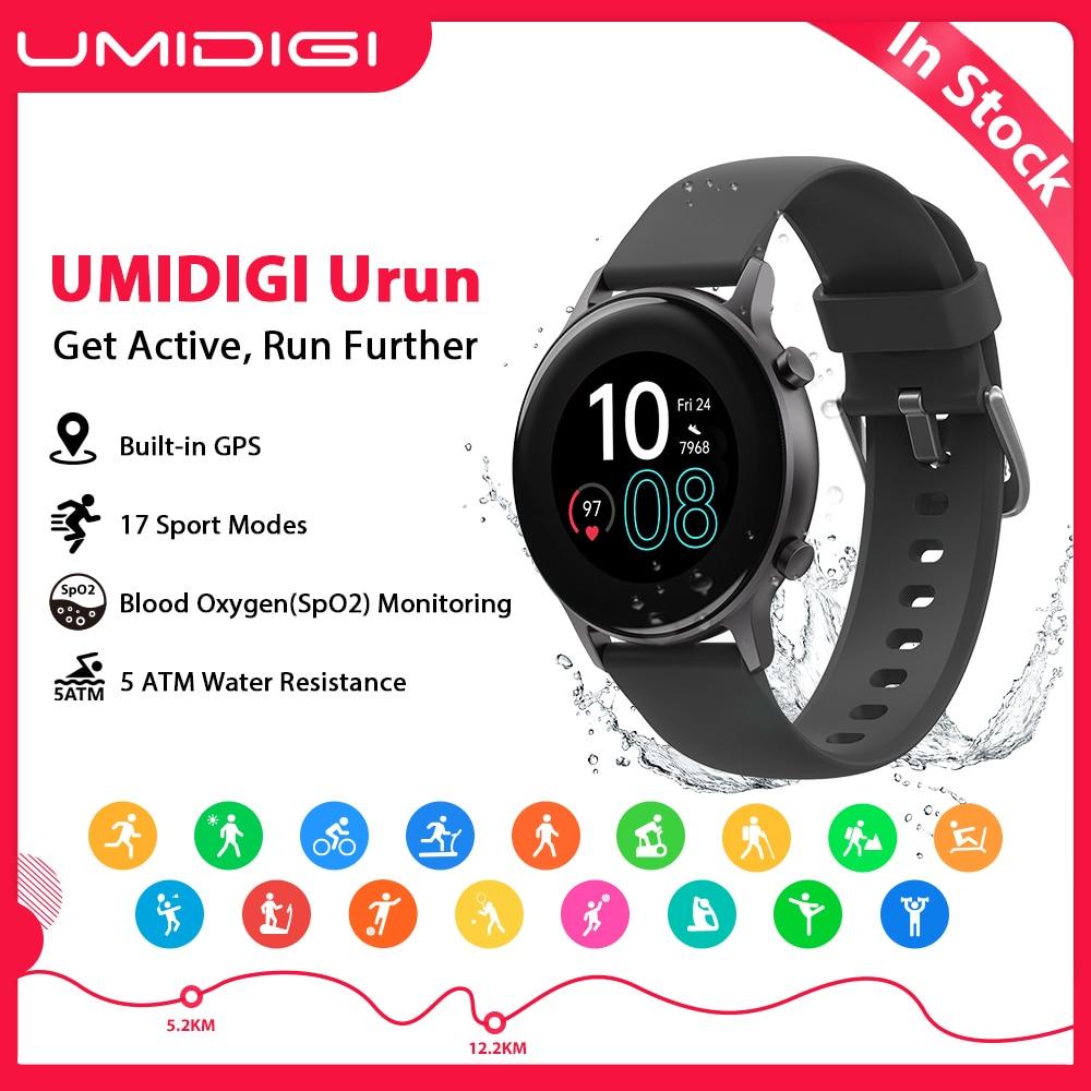 Umidigi urun built-in gps atividade/fitness rastreador monitor de oxigênio no sangue 5atm para android ios freqüência cardíaca smartatc para homem