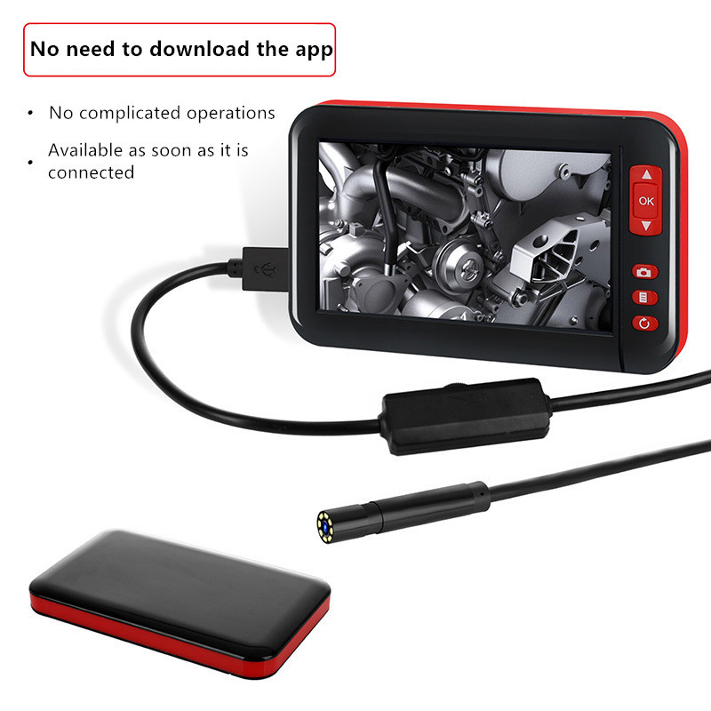 4.3 Inch HD1080P 8MM Screen Inspection Endoscope Camera Borescope HD TFT IPS Camera Car Monitor Endoscope For Cars Endoscopio
