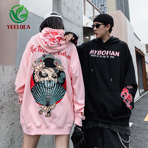 Image 4 - 2019 Dropshipping Embroidered Hooded Top Men Women Autumn Winter Loose Hiphop Hoodies Couples High Quality Casual Sweatshirts