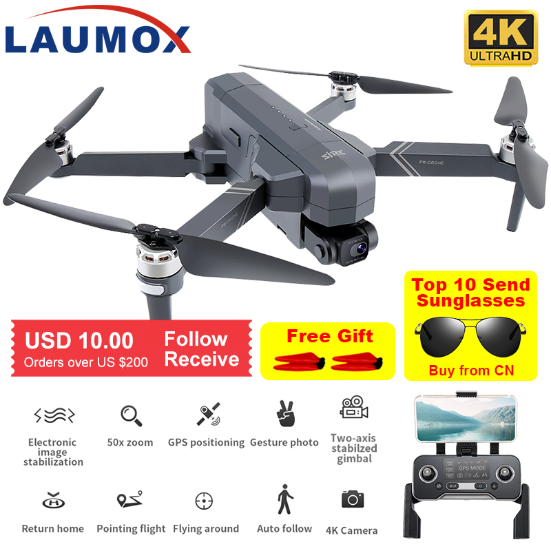 SJRC-F11-4K-PRO-Drone-GPS-5G-WiFi-2-assi-giunto-cardanico-con-videocamera-HD-FPV Recensione SJRC F11 4K Pro, Drone 4K 2020 Cinese
