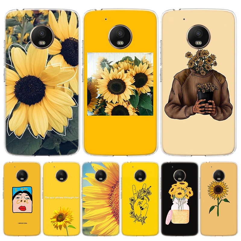 Aesthetics Sunflowers Novelty Cover Phone Case For Motorola Moto G8 G7 G6 G5S G5 E6 E5 E4 Plus G4 Play EU One Action X4 Pattern