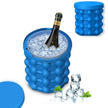 Ice Cube Maker Silicone Bucket Durable Drink Beer Wine Rapid Cooling Storage Drinking Whiskey Freeze Seaside Tool 4.7 inch ice cube maker silicone bucket durable drink beer wine rapid cooling storage drinking whiskey freeze seaside tool 4 7 inch