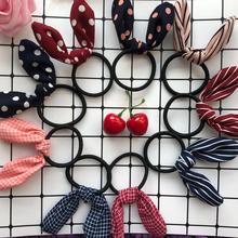 Резинки для волос с кроличьими ушками Симпатичные повязки для волос аксессуары для волос для женщин резинки для волос эластичные резинки для девочек аксессуары для волос для женщин