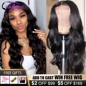 Клюквенные волосы 360 синтетический фронтальный парик Remy бразильские волнистые человеческие волосы парики для женщин предварительно выщип...