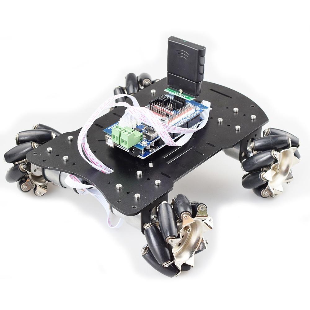 20KG Big Load 4WD All Metal Mecanum Wheel Omni Robot Car Chassis Kit Platform With DC 12V Encoder Motor For Arduino DIY Project