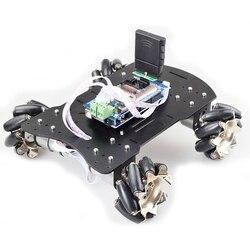 20KG gran carga 4WD todo Metal Mecanum rueda Omni Robot coche chasis Kit plataforma con 12V CC codificador Motor para Arduino DIY proyecto
