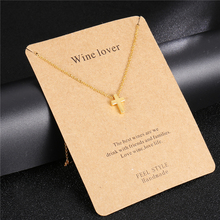 цена на Cute Tiny Christian Cross Pendant Necklace 3 Color Stainless Steel Cross Choker for Women Jewelry Accessories