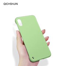 Candy Color Phone Case matte Simple Borderless PC Back Cases Cover For iphone X XS XS MAX XR 6 6s 7 8 Plus Back Protective Shell protective abs matte back cover case for iphone 5 yellow