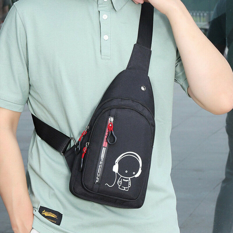 Men Small Chest Bag Pack Shoulder Sling Backpack Cross Body Outdoor Travel Sport Cycling Sports Shoulder Hiking Crossbody