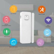 Capteur d'ouverture de porte/fenêtre intelligent, wi-fi, recharge USB, Tuya, alarme de sécurité, Kits pour maison connectée, système d'alarme, avec Alexa, Google Home, IFTTT