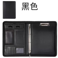 A4 Portable File Folder with Calculator Binder Organizer Manager Office Document Pad Briefcase PU Leather Padfolio Bag Customize