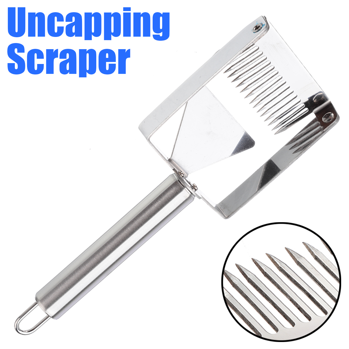 1pc Stainless Steel Bee Hive Uncapping Honey Fork Shovel Sunken Area Honey Scraper Beekeeping Tool Agricultural Equipment 21cm