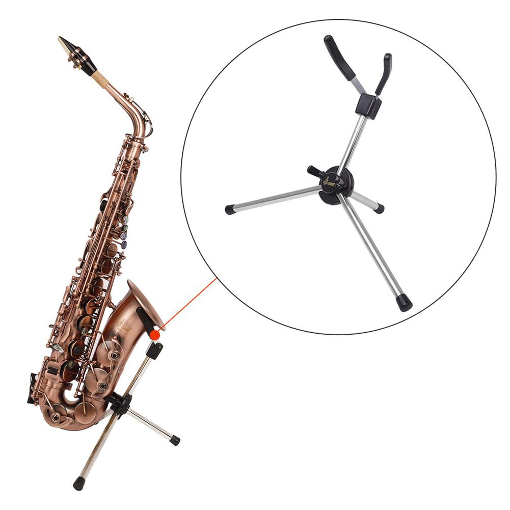 LD-126 Alto Saxophone Musical Universal Sax Portable Holder Foldable Saxophone Bracket Adjustable Stand Instruments Accessories