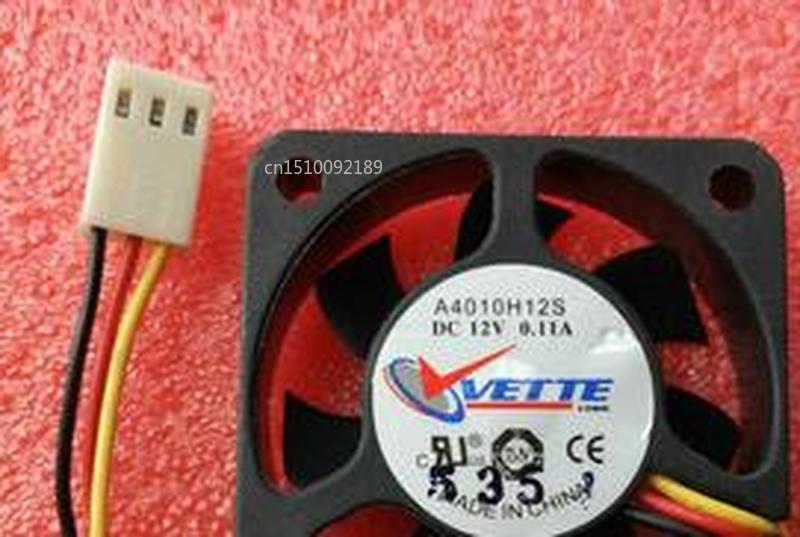 For VETTE A4010H12S DC12V 0.11A 3pin 3wire 4010 40X40X10MM Cooling Fan Free Shipping