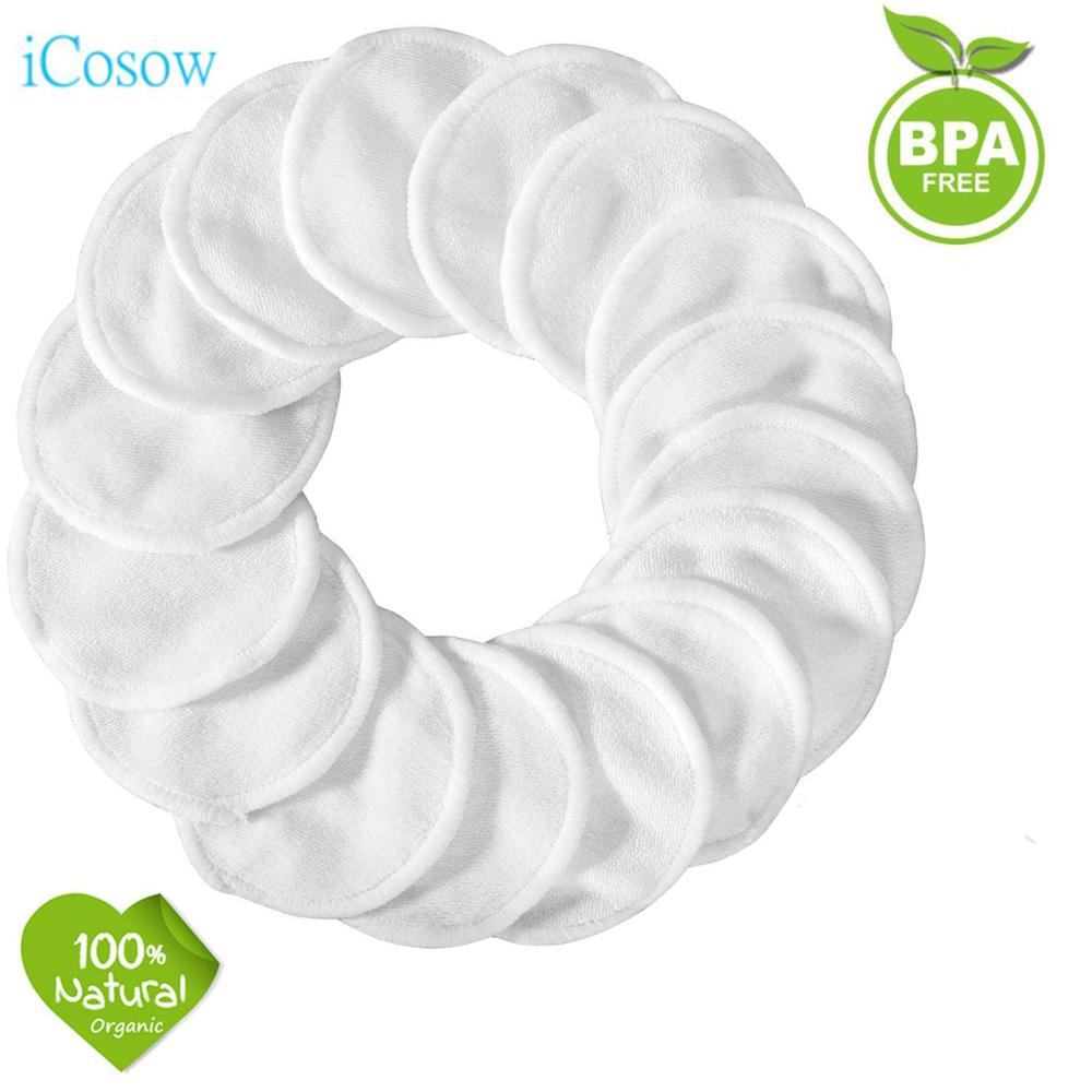 Reusable Makeup Remover Pads 300 Pack, iCosow Organic Bamboo Cotton Rounds,Reusable Cotton Pads for Face Wipes with Laundry Bag