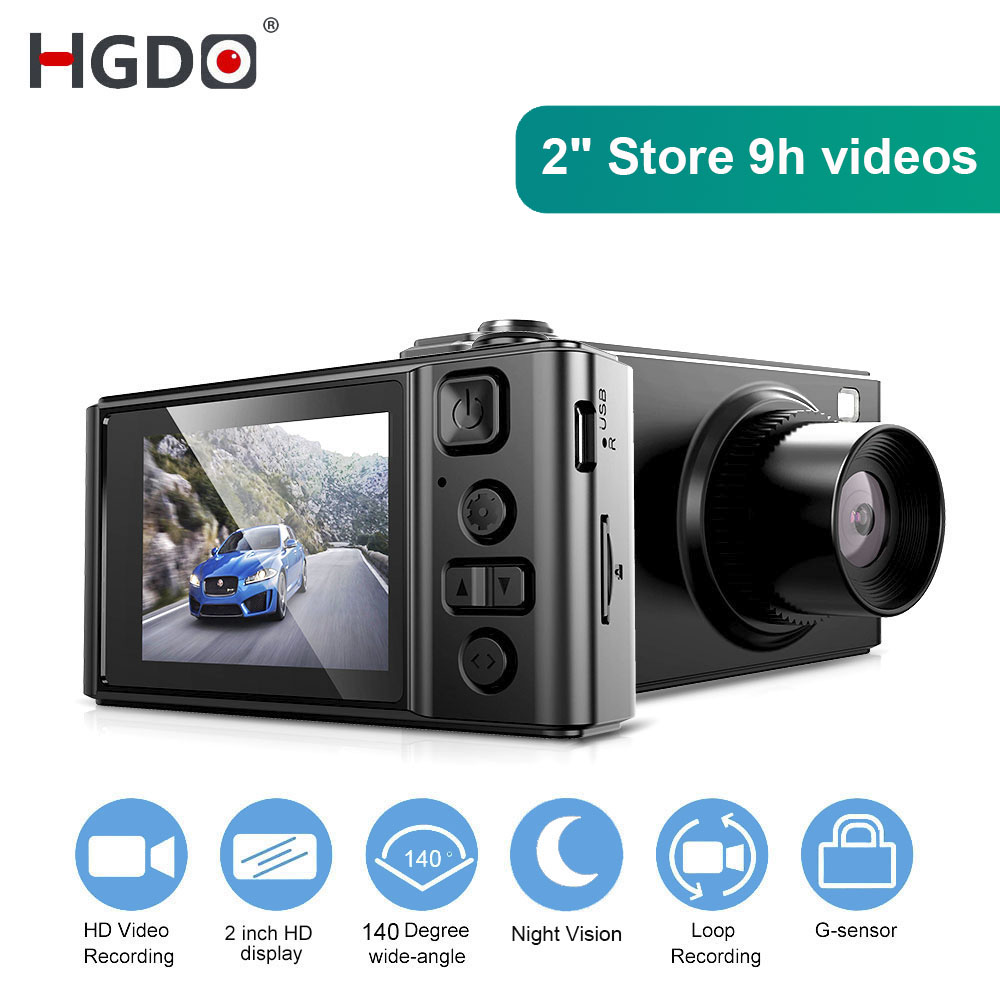 HGDO 2 INCH Car DVR Mini Dash cam Full HD Car Camera Camcorder 1080P Dvrs Night Vision video Recorder Autoregister Black Dashcam