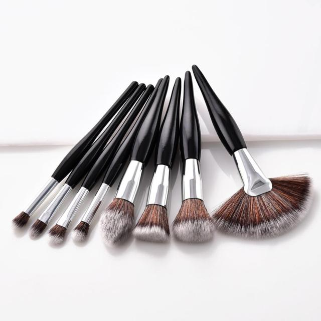 4/8 Pcs Makeup Brush Kit Soft Synthetic Hair Wood Handle Make Up Brushes Foundation Powder Blush Eyeshadow Cosmetic Makeup Tools 1