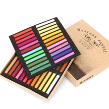 Marie's Painting Crayons Soft Dry Pastel 48 Colors Set School Office Art Drawing Chalk Colorful Brush Stationery for Students