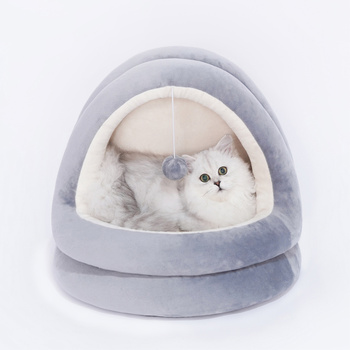 Cat House Seasons General Closed Products Can Wash Teddy Dog Net Red Pet Bed Villa