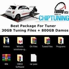 החבילה הטובה ביותר עבור טיונר 30GB שבב כוונון קבצים + מתנה Damos מקורי/שונה מפות Remap עם קס/KTAG/FGTECH ECU מתכנת