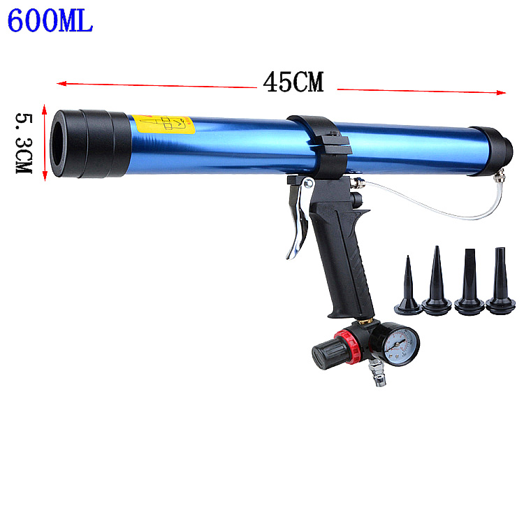 Pneumatic Caulking Gun 600ml Cartridge Gun Paint & Decorating Glass Glue Air Rubber Guns Tools Sealant Finishing Tools