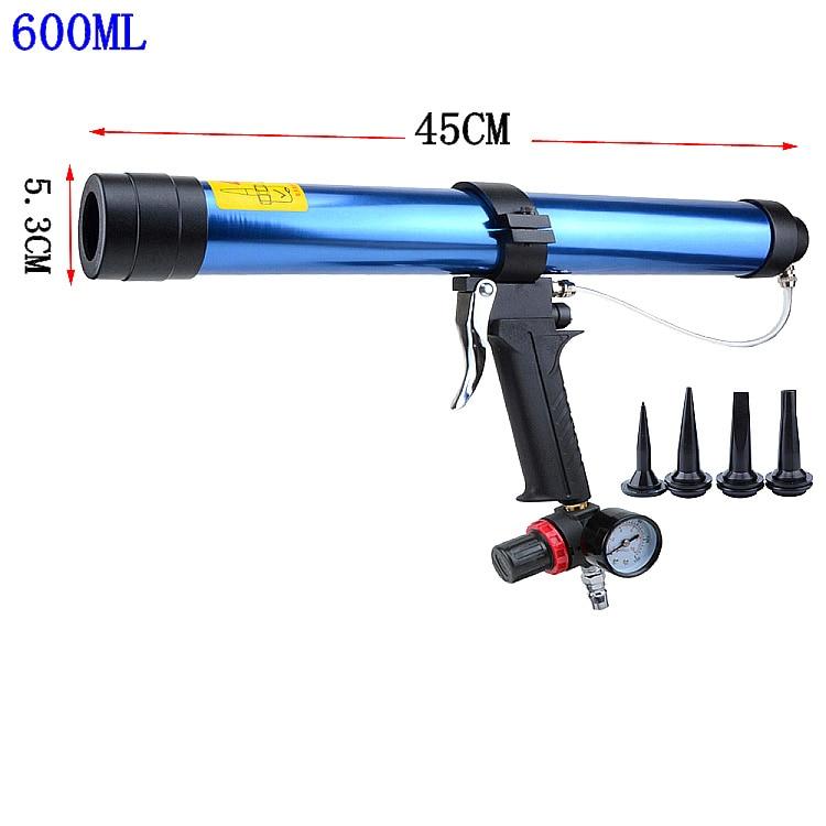 Pneumatic Caulking Gun 600ml Cartridge Gun Paint & Decorating Glass Glue Air Rubber Guns Tools Sealant Finishing Tools
