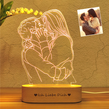 Personalized Custom Photo 3D Lamp Photo amp Text Custom Night Light Wedding Anniversary Birthday Mother #8217 s Day Father #8217 s day Gift cheap ZPAA Atmosphere CN(Origin) Best Gift Night Lights Crystal NONE LED Bulbs Switch HOLIDAY 0-5W