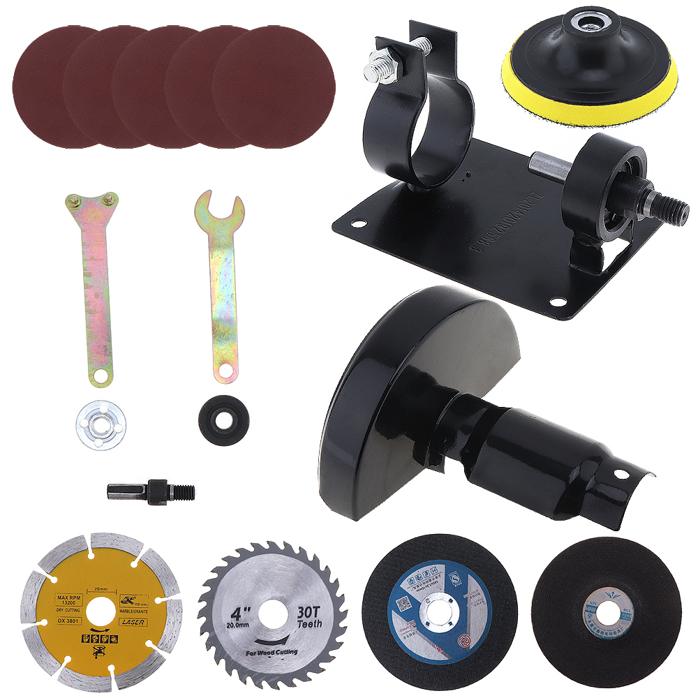 17pcs/set 13mm Electric Drill Cutting Seat Tool Accessories with Grinding Wheel Metal Slice for Cutting Tile Metal Polishing