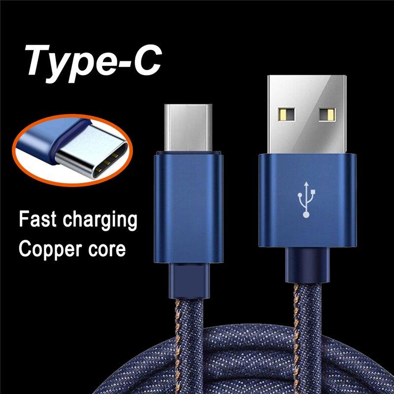 2.1A schnelle ladung cowboy daten kabel USB daten sync smart telefon universal ladegerät draht für Typ-C