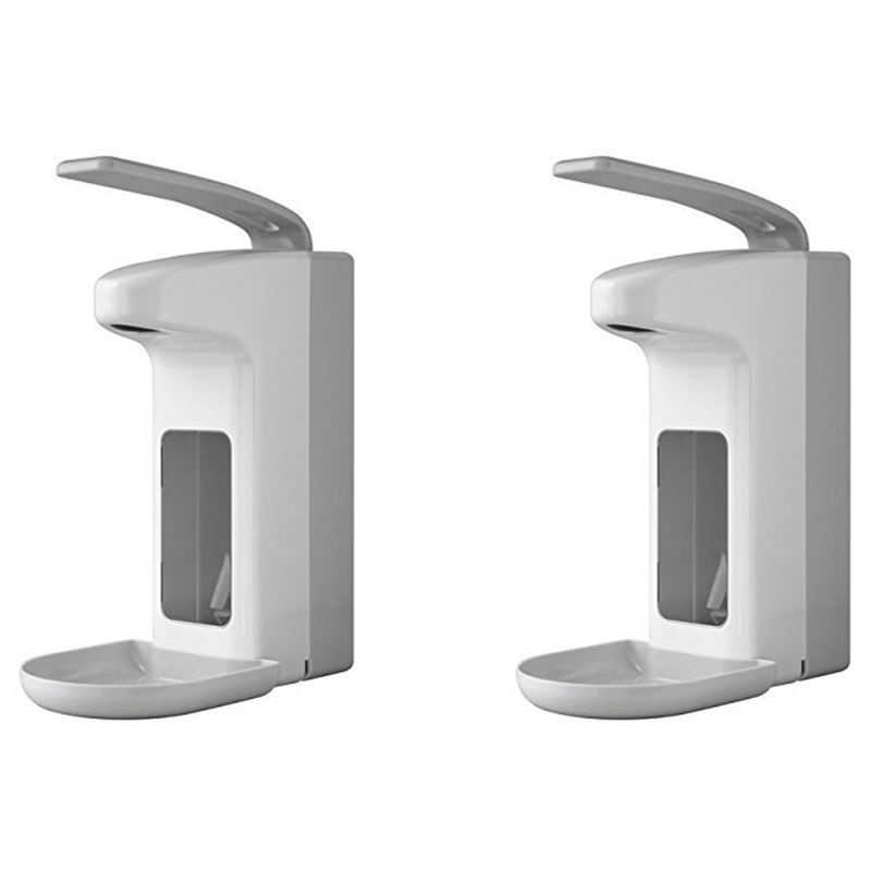 2pcs Disinfection Plastic Elbow Pressure Soap Dispenser - 500ml