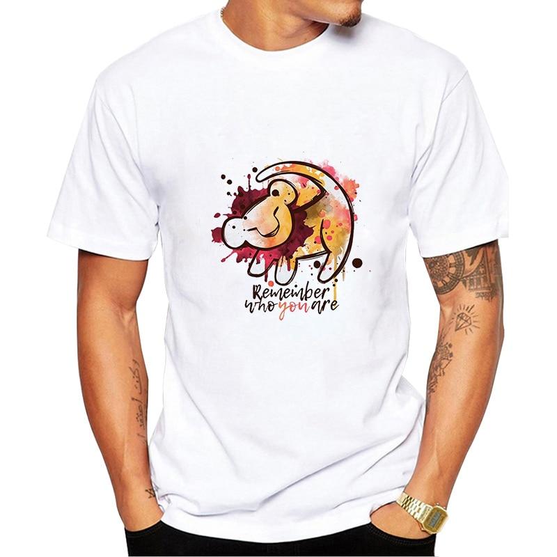 Summer Men   T     Shirts   HAKUNA MATATA Big Size   T  -  Shirt   Short Sleeve Slim Fit Fashion tshirt Male Clothing   t     shirt