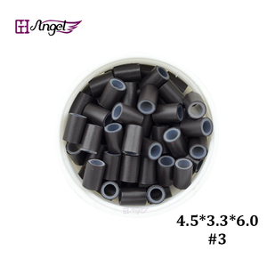 Image 5 - Wholesale 25000pcs 4.5*3.3mm Silicone Copper Hair Extension  tube beads for micro ring hair extension  hair ring
