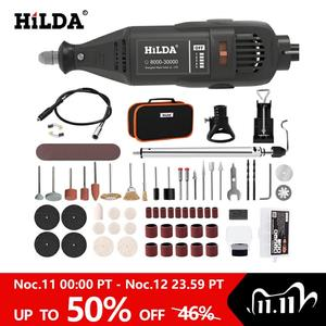 Image 1 - HILDA Electric Drill Dremel Grinder Engraver Pen Grinder Mini Drill Electric Rotary Tool Grinding Machine Dremel Accessories