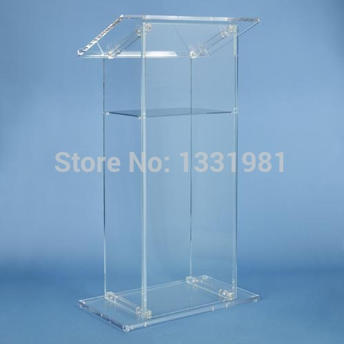 With High Quality Clear Acrylic Podium Pulpit Lectern Manufacturer Supplies Acrylic Lectern