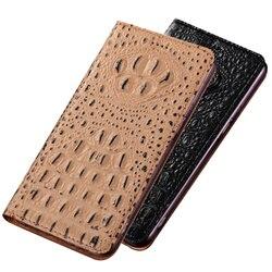 На Алиэкспресс купить чехол для смартфона crocodile pattern genuine leather phone case credit card holder for oppo realme x2 pro flip case for oppo realme x2 phone bag