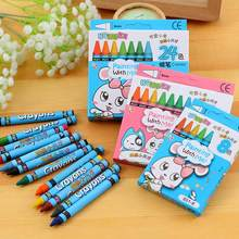 Kuulee Writing Pencil Student Lead-free No-poison Pencil Oil Pastel Random Color(China)