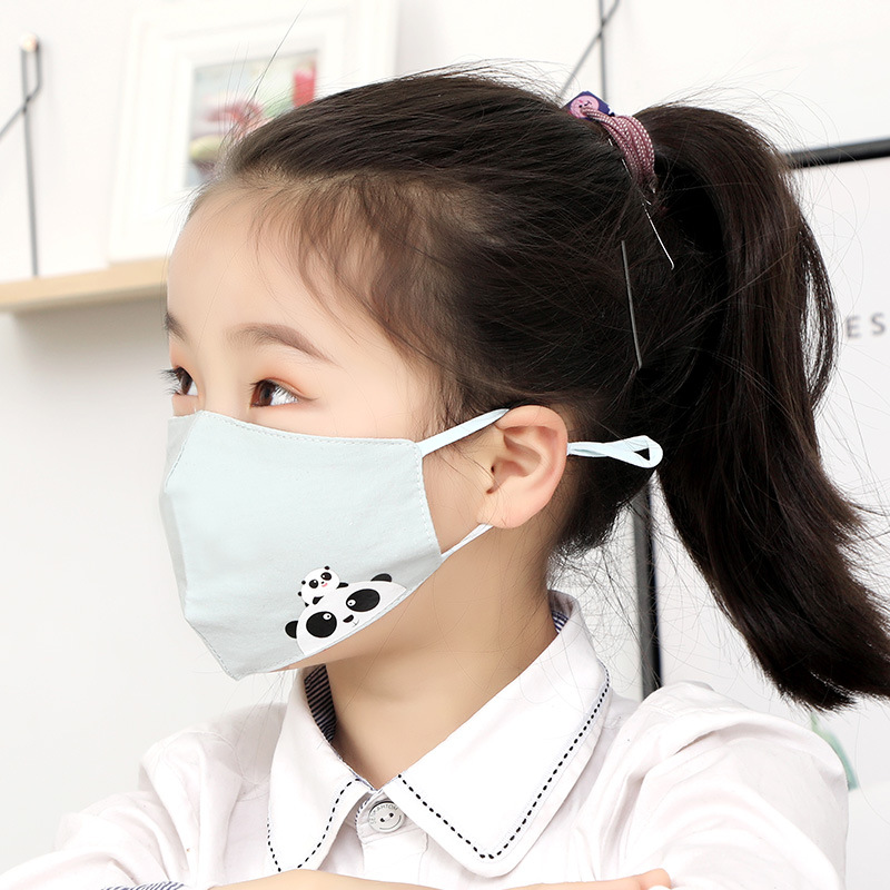 5PCS Cartoon Panda Anti-allergy Mask For Your Children Dust Proof Wide Respirator Reusable Face Mask Anti-coronary