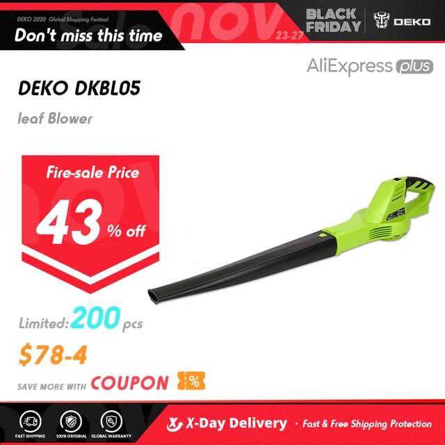 DEKO DKBL05 Cordless Electric leaf Blower Cordless String Blower Electric Air Blower Cordless Sweeper Garden Tools with 18V 1500 1