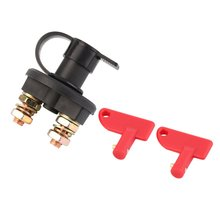 12V/24V Universal Automobile Car Truck Boat Battery Isolator Disconnect Cut Off Power Kill Switch Waterproof Switch 1pair car truck boat battery isolator master cut off power kill switch universal spare keys