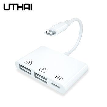 UTHAI C50 For iphone USB OTG Adapter 500mAh With Charge Lightning High Power Support IOS13 File Transfer For SLR U flash Mouse