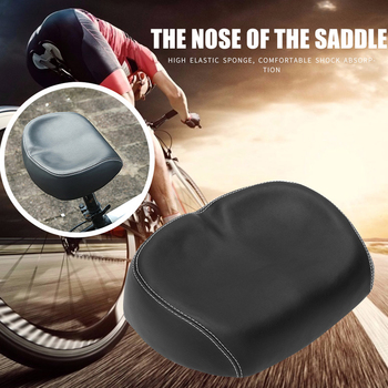 Bicycle Saddle Cycling Big Bum Wide Saddle Seat Road MTB Mountain Bike Noseless Soft Pad Comfort Cushion Cycling Bicycle Parts image