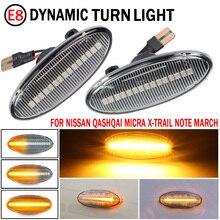 Led Dynamische Richtingaanwijzer Zijmarkeringslamp Repeater Signal Lights Voor Nissan Qashqai Dualis Juke Micra Maart Micra Note