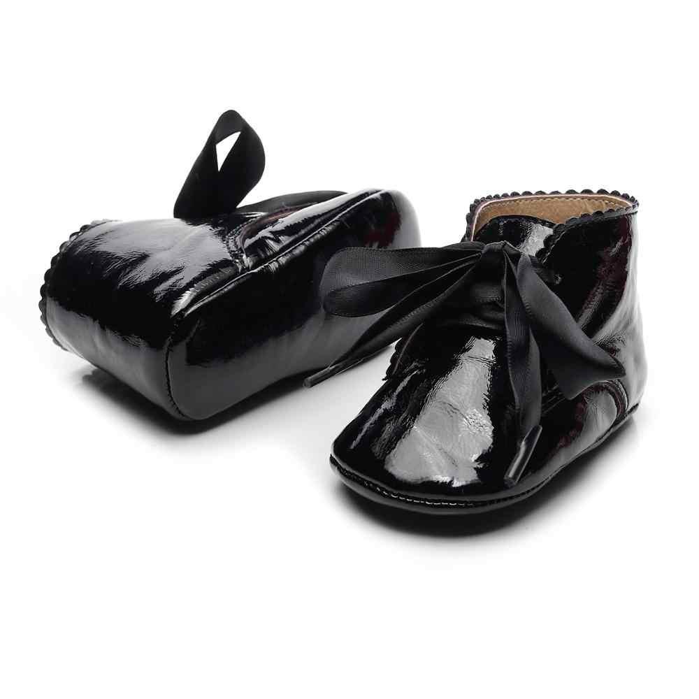 4 สีหวานสบายๆรองเท้าเด็กหญิงเด็กทารก PU หนังเด็กทารกเด็กวัยหัดเดินน่ารักเด็กรองเท้า