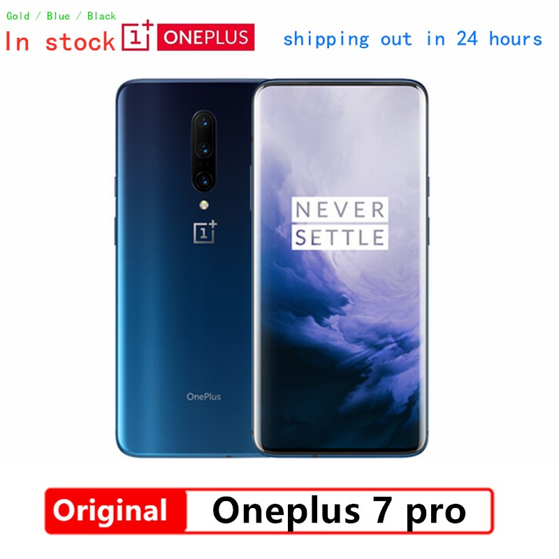 """Global Firmware Oneplus 7 Pro 6GB RAM 128GB ROM Mobile Phone Snapdragon 855 6.67"""" AMOLED 48MP 30W Fast Charge NFC 4000mAh